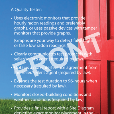 Radon Testing for Homebuyers